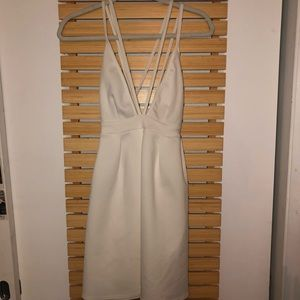 Strappy white dress